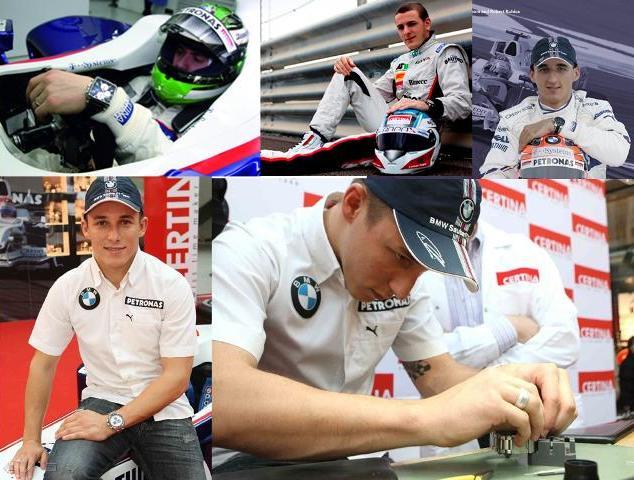 F1 pilotları ve Certina(1)